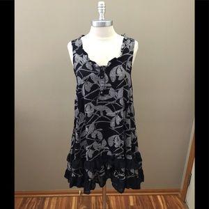 Papillon Navy/White Pattern Dress